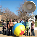 J-Term, Inc. Some students on the J-term trip to Silicon Valley in California make a stop at Pixar Studios. Pictured left to right are Stephanie Agresta ('92), Stephanie Borgen ('09), Brad Miller, Daniel Moss ('10), Andrew Woodard ('09), Katie Sackett ('09), Pat Williams ('10), Jake Vaith ('10), Wes Gregg ('09) and Rachel Becvarik ('09).