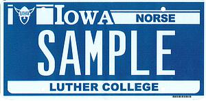 Luther license plate