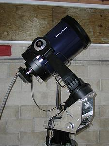 One of the 12 in. telescopes with the Apogee AP6E CCD camera attached.