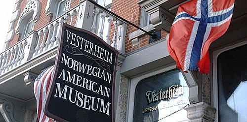 Front Sign of the Vesterheim Norwegian-American Museum