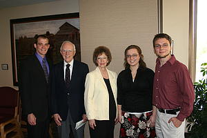 The Rosholts with their scholarship recipients, spring 2010.