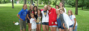 "Lutherlag teens at a picnic in Phelps Park.<a href=""/reason/images/285707_orig.jpg"" title=""High res"">∝</a>"