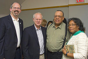 Lawrence and Queen Williams with Keith Christensen, William Craft