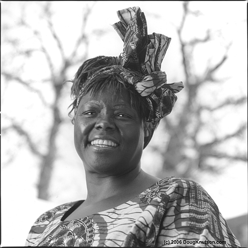 Portrait of Nobel Laureate Wangari Maathai
