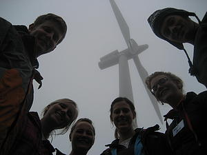 Students after the turbine climb.
