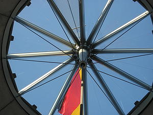 The dome of the Reichstag in Berlin.