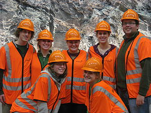 Luther students at a hydroelectricity plant in Lillehammer.