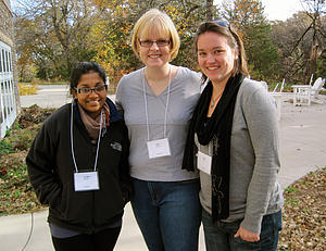 "L to R: Aaidha Majdhy '11, Amy Zalk Larson '96 (campus pastor), and Alma Gast '10<a href=""/reason/images/315862_orig.jpg"" title=""High res"">∝</a>"