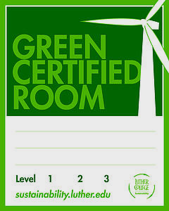 Green Room Certification Recognition Sign