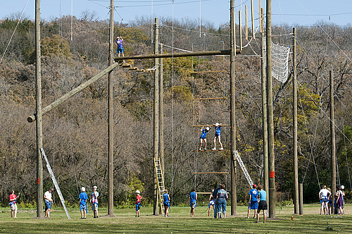 Participants of the Ropes Course