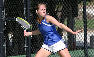 Tennis at Luther College.
