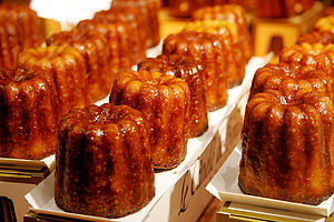 "Canele, a small French pastry with a soft and tender custard center and a dark, thick caramelized crust; by Roboppy, from en.wikipedia.org (via Wikimedia Commons)<a href=""/reason/images/338227_orig.jpg"" title=""High res"">∝</a>"