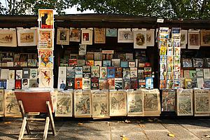 "The Bouquinistes of Paris are booksellers of used and antiquarian books who ply their trade along large sections of the banks of the Seine; by Benh Lieu Song, from Wikimedia Commons<a href=""/reason/images/338231_orig.jpg"" title=""High res"">∝</a>"