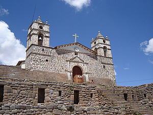 "Catedral de Vilcashuamán, Peru; by Guillermo Arévalo Auchuasi, from Wikimedia Commons<a href=""/reason/images/338561_orig.jpg"" title=""High res"">∝</a>"