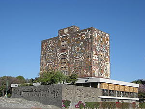 "The Central Library building on Mexico's National Autonomous University (UNAM) main campus; by Roadmr; from Wikimedia Commons<a href=""/reason/images/338629_orig.jpg"" title=""High res"">∝</a>"