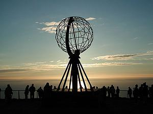 "The Globe at the North Cape, by Svein-Magne Tunli, from Wikimedia Commons<a href=""/reason/images/338828_orig.jpg"" title=""High res"">∝</a>"