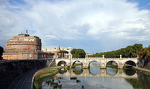 "St Angelo and Ponte St Angelo, Rome; by AngMoKio, from Wikimedia Commons<a href=""/reason/images/340089_orig.jpg"" title=""High res"">∝</a>"