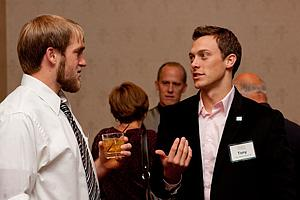 Erik Gustaf '09 and Tony Vanden Heuvel '06