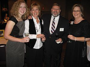Sarah Carnes '08, Miri (Peterson) '81 and Paul Mattson '81, and Sarah (Peterson) Thomson '90
