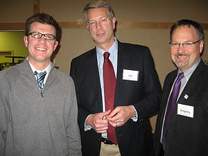 Andy Jolivette '03, Jim Martin-Schramm, and Gregory Peterson '83