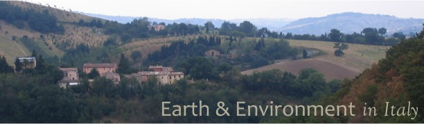 The banner for Italy: Earth and Environment
