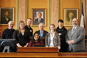 "Social Policy Students lobbying at State Capitol<a href=""/reason/images/377610_orig.jpg"" title=""High res"">∝</a>"