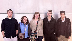 Luther students traveled to undergraduate research symposium.