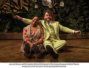 Jasmine Bracey and Christopher Michael McFarland in The Acting Company/Guthrie Theatre