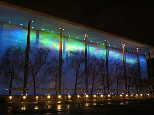Kennedy Center lit up for Nordic Cool 2013