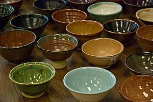 The final product from the Empty Bowls project last year