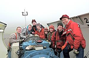 The Green Germany group traveled to Bohnstedt, a town with a solar field, wind turbines and a biogas plant. They also had the opportunity to climb to the top of a wind turbine and learn more about how they work.