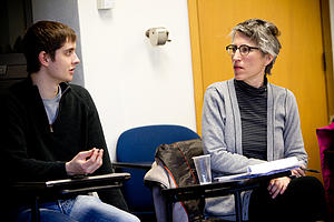 "Jane Hamilton, visiting professor in the English department, taught a J-Term class on creative writing.<a href=""/reason/images/453973_orig.jpg"" title=""High res"">∝</a>"