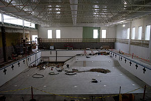 Aquatic Center progress