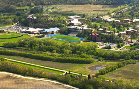 Aerial photograph of Luther campus