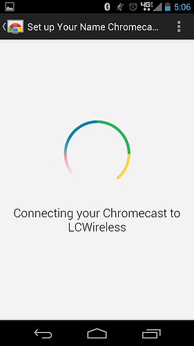 how to connect a chromecast to a network