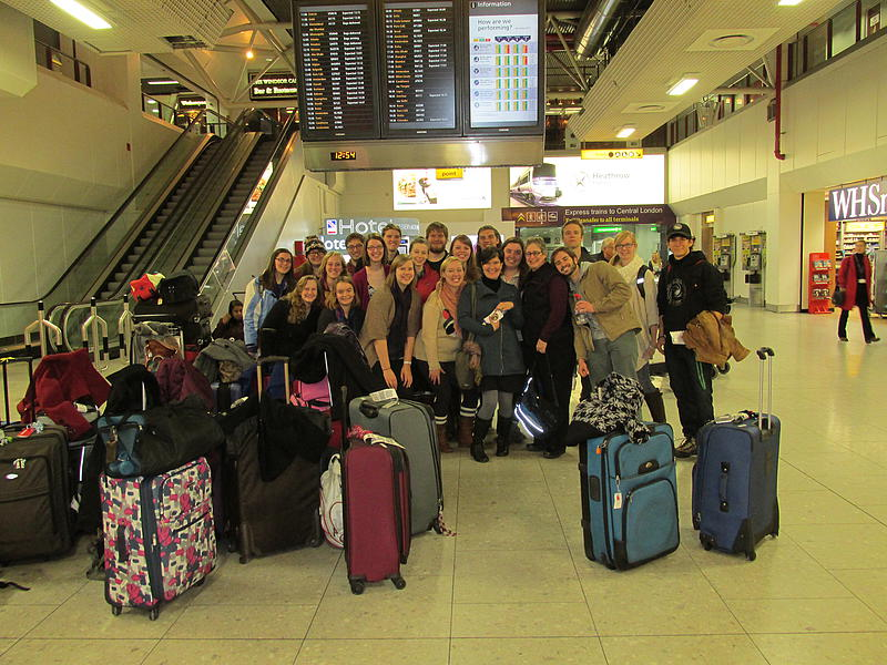 Gathered at the Heathrow Airport!