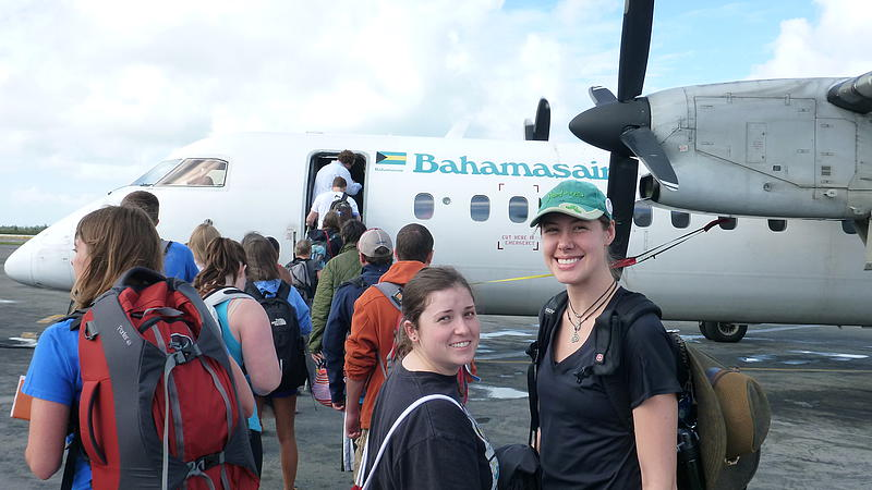 The Plane we took from Nassau to San Salvador