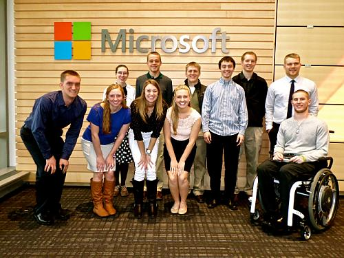 Brad Miller's J-term students visit the Google offices.