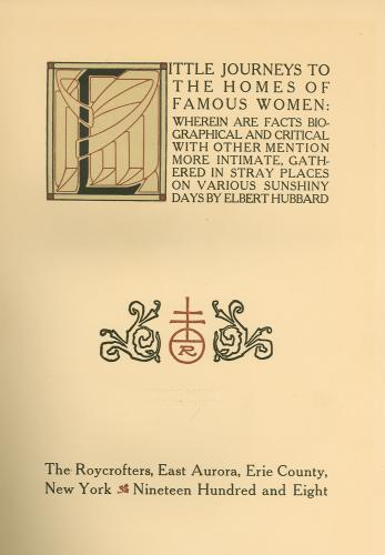 Little Journey's Title Page
