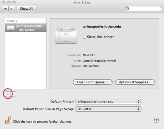 Mac Network Printer - 1