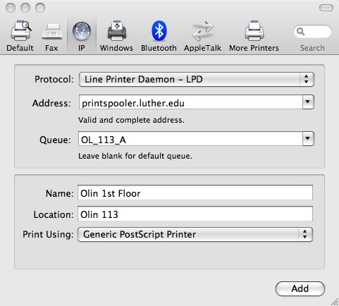 Mac Network Printer - 2