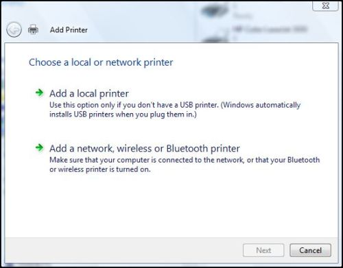 Windows Network Print Training - Which Printer Type