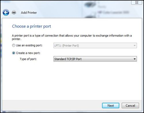 Windows Network Print Training - Which Port Type