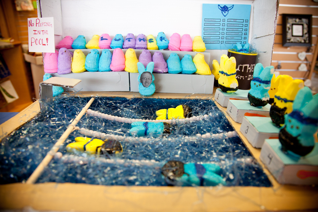 Collaborative Student Work ~ Luther book shop to host seventh annual peep diorama