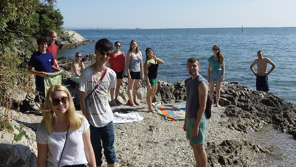 Our students at the beach