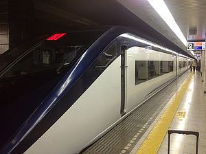 The Tsukuba Express rapid train.