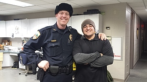 Ronell Quinones interns with the Decorah Police Department.