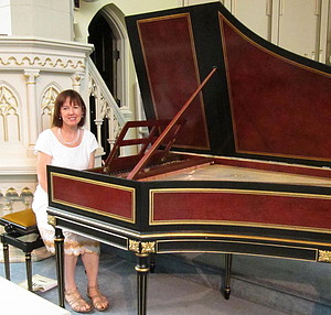 Kathryn Reed with harpsichord