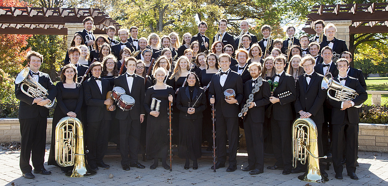 Concert Band in Bentdahl Commons, Oct 2014
