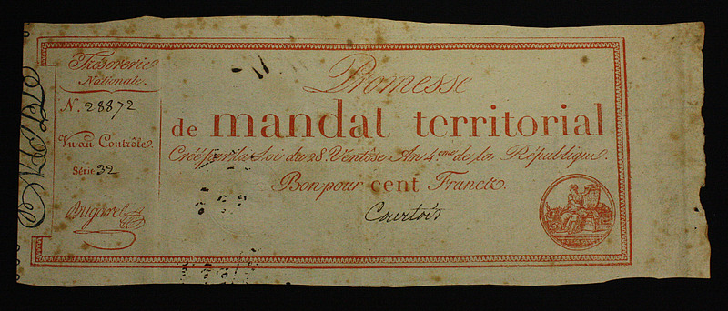 French Bank Note: Territorial Mandate, N419